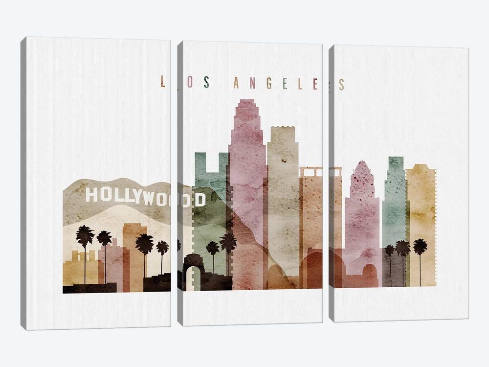 Los Angeles Watercolor II by ArtPrintsVicky 3-piece Canvas Artwork