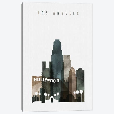 Los Angeles Watercolor III Canvas Print #APV55} by ArtPrintsVicky Canvas Art