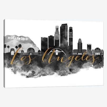 Los Angeles in Black & White Canvas Print #APV56} by ArtPrintsVicky Canvas Art