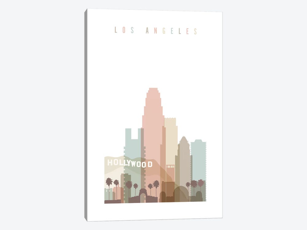 Los Angeles Pastels in White by ArtPrintsVicky 1-piece Art Print