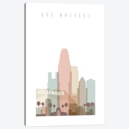 Los Angeles Pastels in White Canvas Print #APV57} by ArtPrintsVicky Canvas Wall Art
