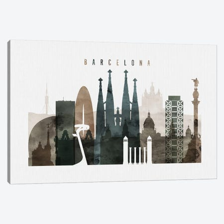 Barcelona Watercolor II 3-Piece Canvas #APV5} by ArtPrintsVicky Canvas Wall Art