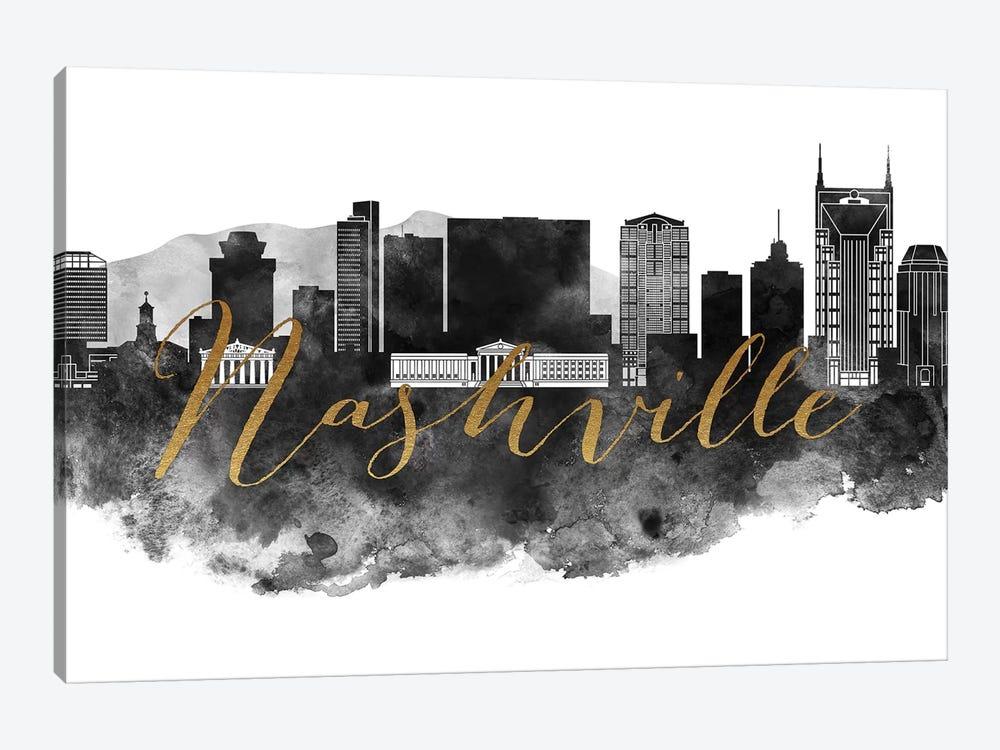 Nashville in Black & White by ArtPrintsVicky 1-piece Canvas Artwork