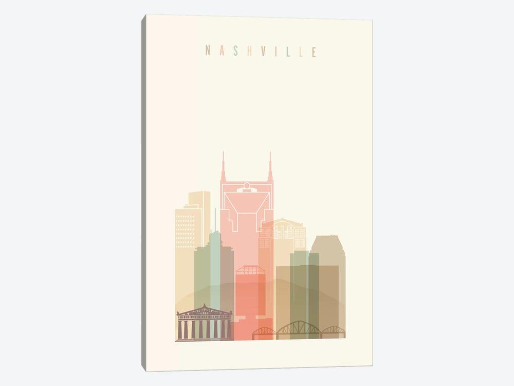 Nashville Pastels in Cream by ArtPrintsVicky 1-piece Art Print