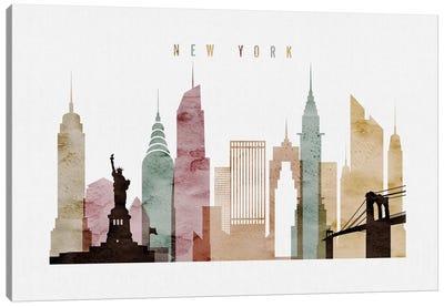 New York Watercolor Canvas Art Print