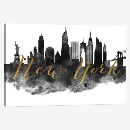 New York City in Black & White Canvas Print #APV66} by ArtPrintsVicky Canvas Print