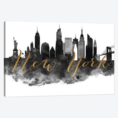 New York City in Black & White Canvas Print #APV66} by ArtPrintsVicky Canvas Print