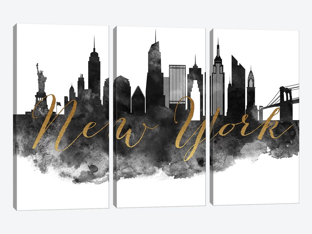 New York City in Black & White by ArtPrintsVicky 3-piece Art Print