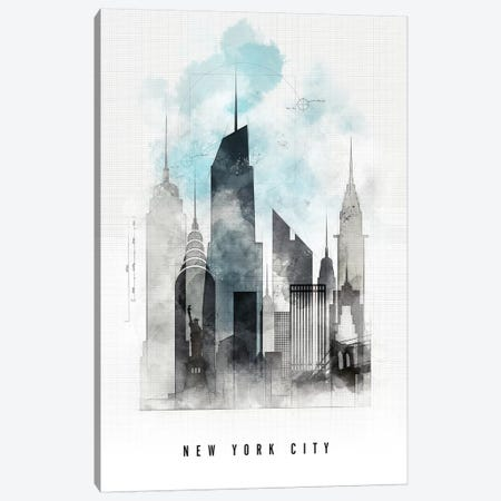 New York Urban  Canvas Print #APV68} by ArtPrintsVicky Canvas Art