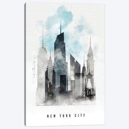 New York Urban  Canvas Print #APV68} by ArtPrintsVicky Canvas Art