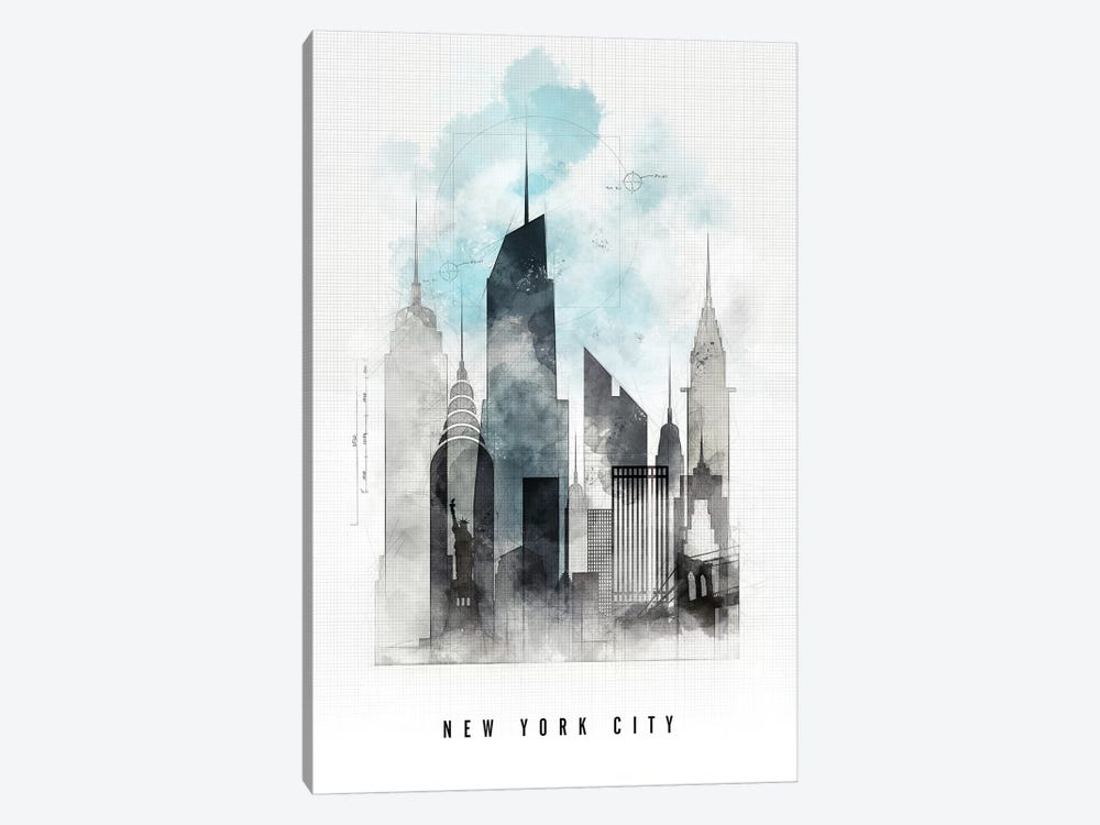 New York Urban  by ArtPrintsVicky 1-piece Canvas Print