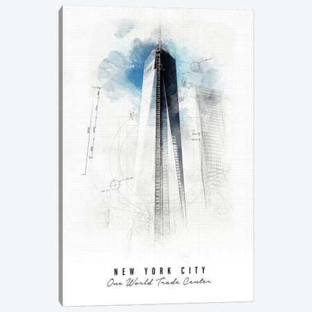 One World Trade Center - New York City Canvas Print #APV70} by ArtPrintsVicky Canvas Art Print