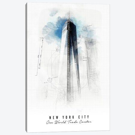 One World Trade Center - New York City Canvas Print #APV70} by ArtPrintsVicky Canvas Art Print