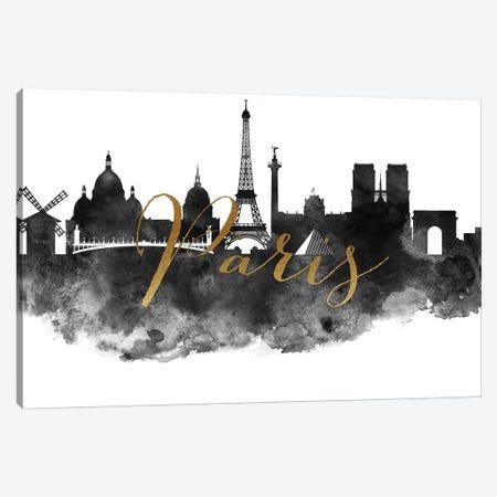 Paris in Black & White Canvas Print #APV74} by ArtPrintsVicky Canvas Wall Art