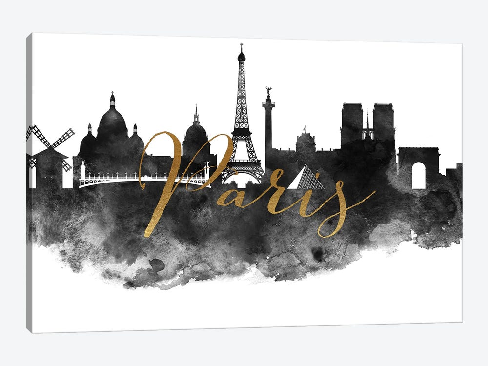 Paris in Black & White by ArtPrintsVicky 1-piece Canvas Wall Art