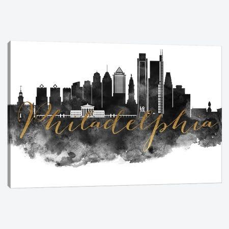 Philadelphia in Black & White Canvas Print #APV78} by ArtPrintsVicky Canvas Print