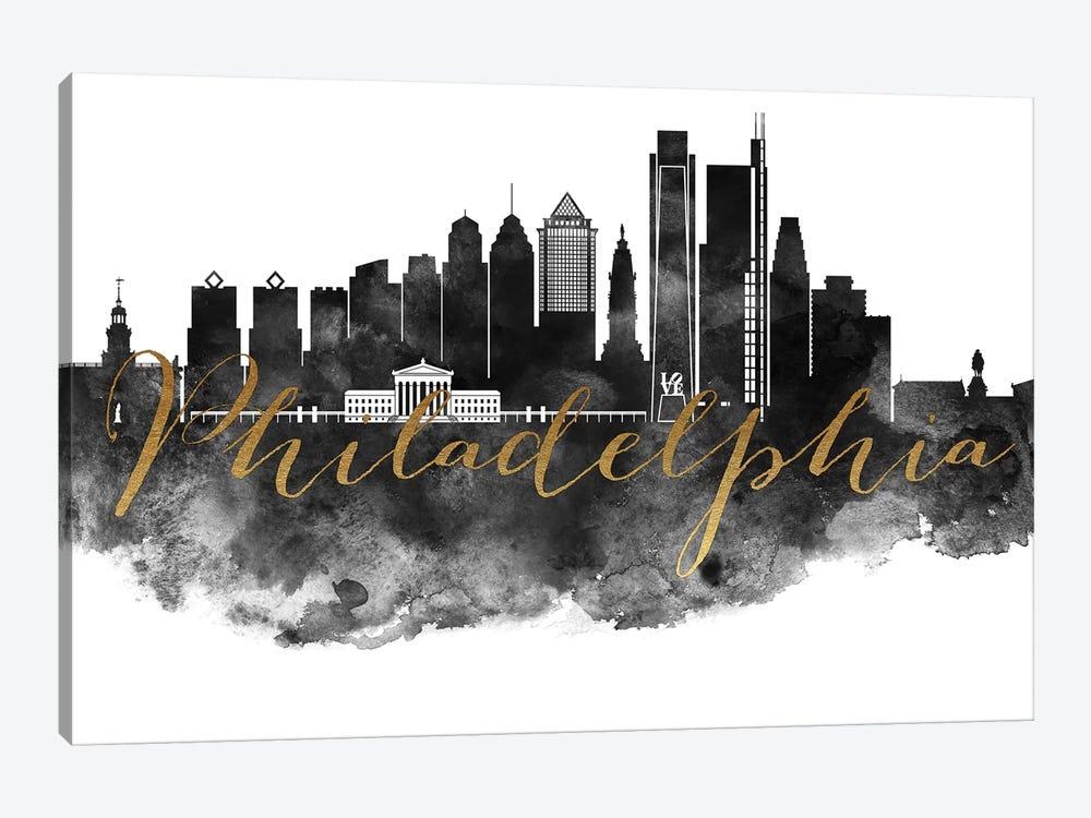 Philadelphia in Black & White by ArtPrintsVicky 1-piece Canvas Artwork