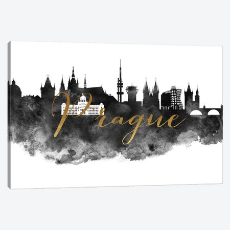 Prague in Black & White Canvas Print #APV79} by ArtPrintsVicky Canvas Art Print