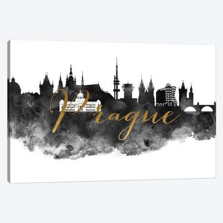 Prague in Black & White Canvas Print #APV79} by ArtPrintsVicky Canvas Art Print