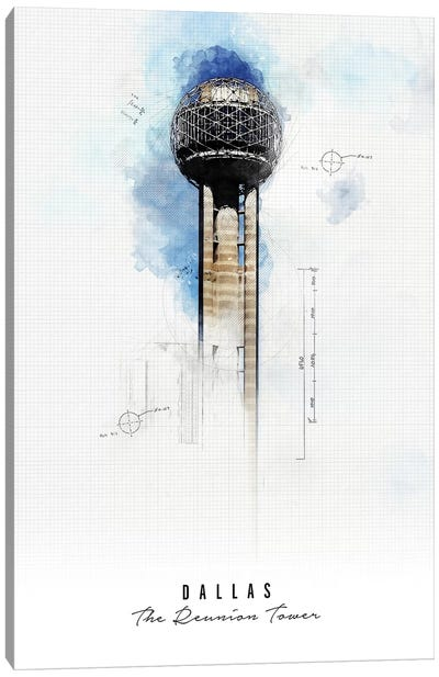 Reunion Tower - Dallas Canvas Art Print