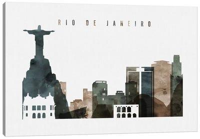 Rio De Janeiro Watercolor Canvas Art Print