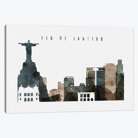 Rio De Janeiro Watercolor Canvas Print #APV82} by ArtPrintsVicky Canvas Wall Art