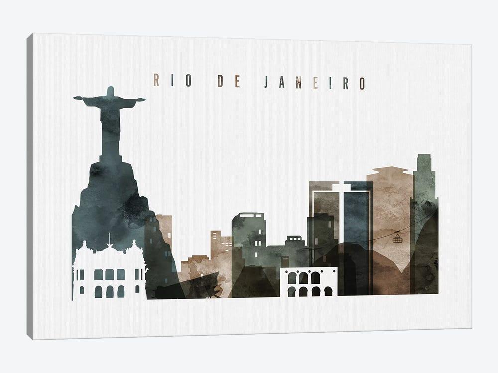 Rio De Janeiro Watercolor by ArtPrintsVicky 1-piece Art Print