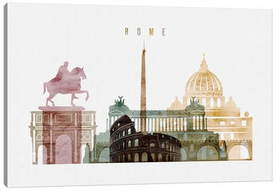 Rome Watercolor I Canvas Art Print