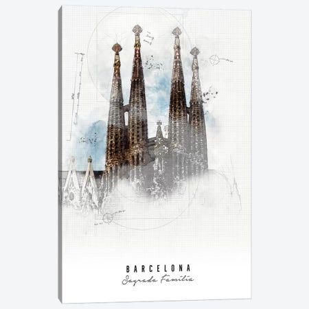 Sagrada Familia - Barcelona Canvas Print #APV86} by ArtPrintsVicky Art Print