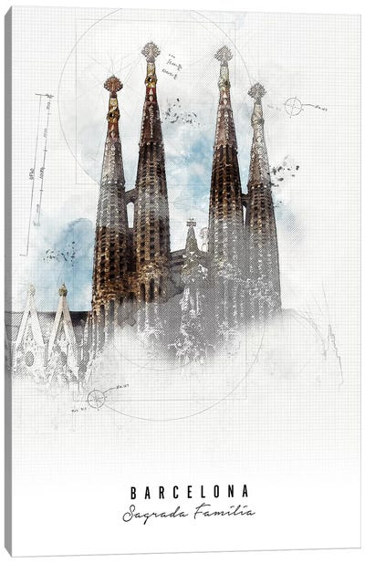 Sagrada Familia - Barcelona Canvas Art Print