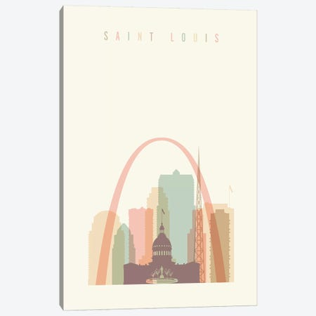 Saint Louis Pastels in Cream Canvas Print #APV87} by ArtPrintsVicky Canvas Print