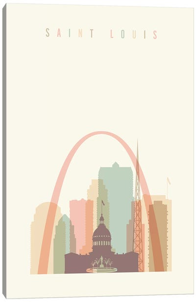 Saint Louis Pastels in Cream Canvas Art Print