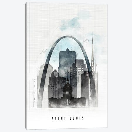 Saint Louis Urban Canvas Print #APV88} by ArtPrintsVicky Canvas Art