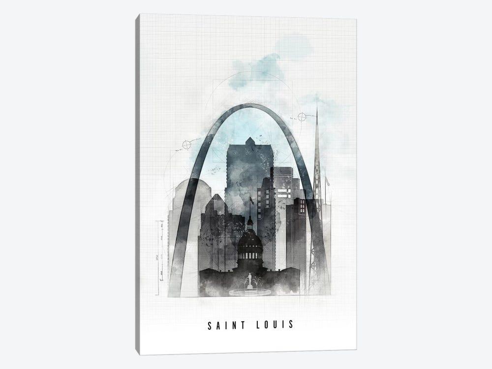 Saint Louis Urban by ArtPrintsVicky 1-piece Canvas Art Print