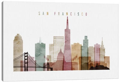 San Francisco Watercolor I Canvas Art Print