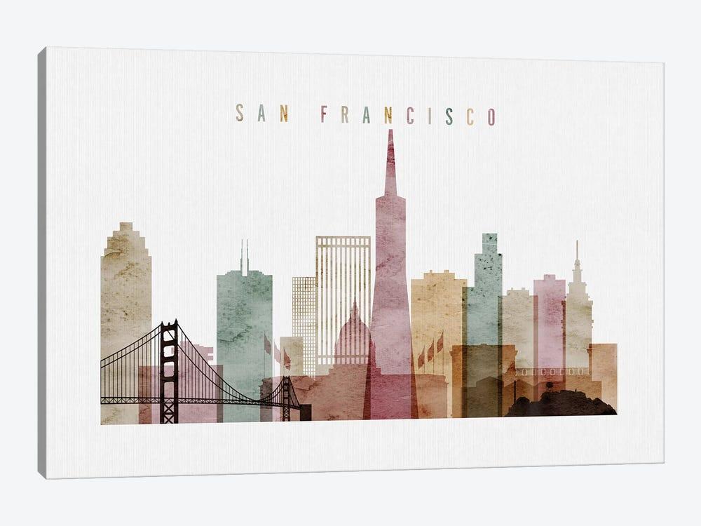 San Francisco Watercolor I by ArtPrintsVicky 1-piece Canvas Print