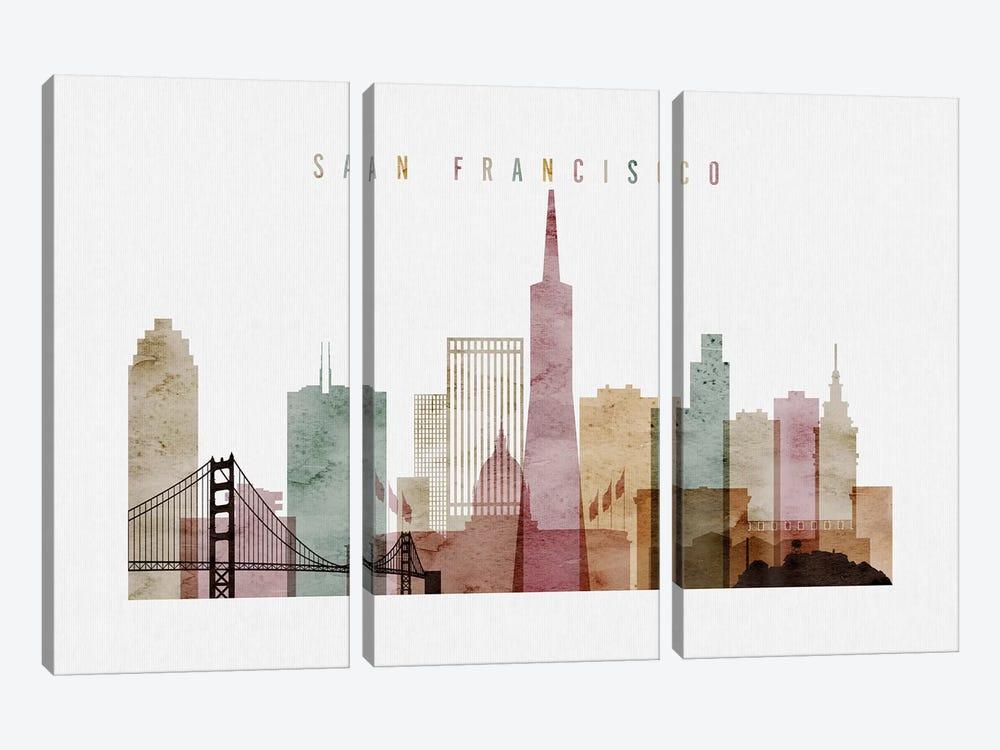 San Francisco Watercolor I by ArtPrintsVicky 3-piece Art Print