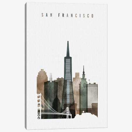 San Francisco Watercolor II Canvas Print #APV92} by ArtPrintsVicky Art Print