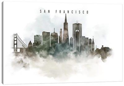 San Francisco Watercolor Cityscape Canvas Art Print