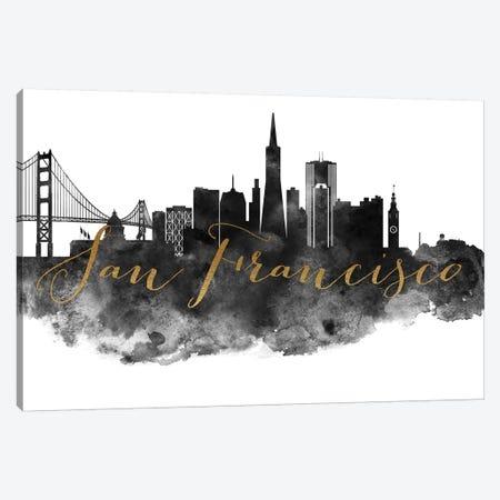 San Francisco in Black & White Canvas Print #APV94} by ArtPrintsVicky Canvas Art