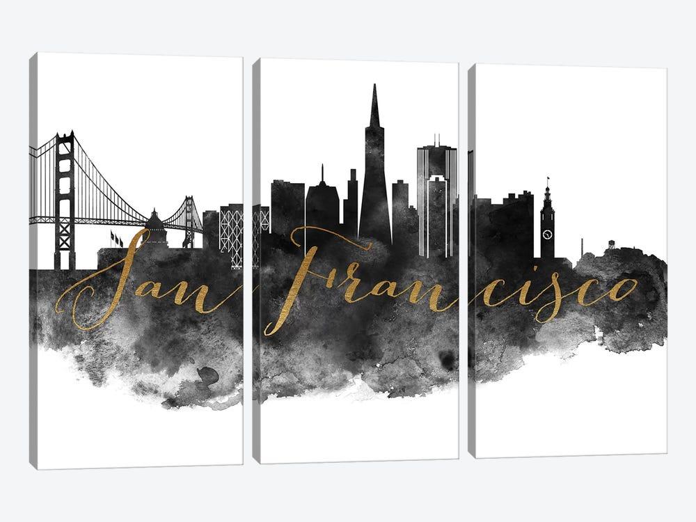 San Francisco in Black & White by ArtPrintsVicky 3-piece Canvas Art