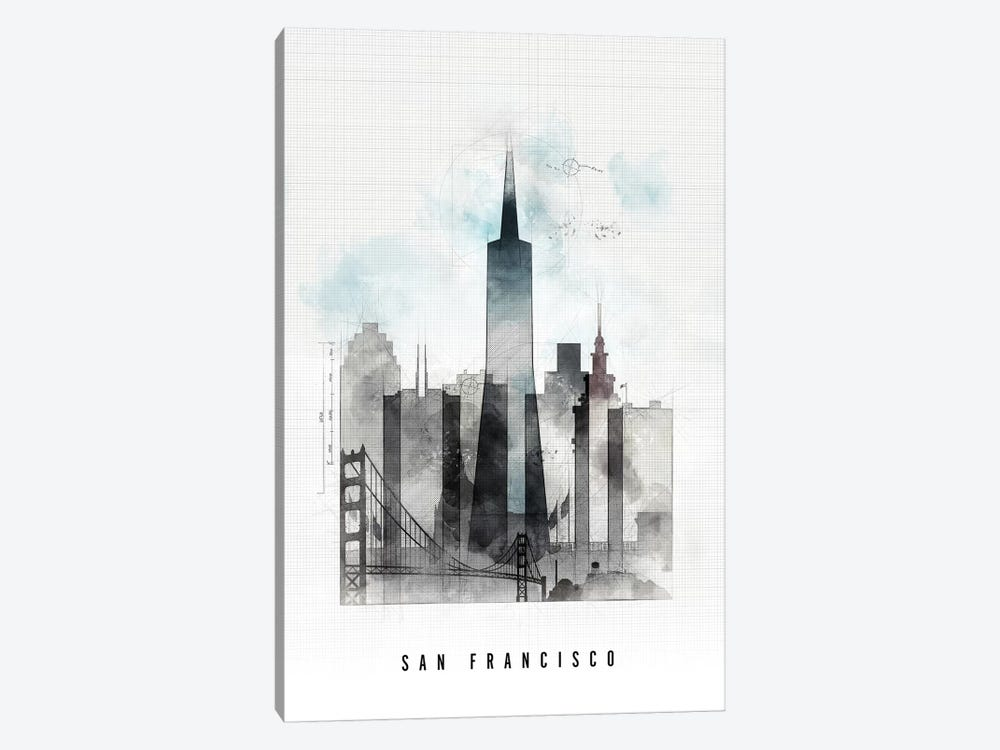 San Francisco Urban by ArtPrintsVicky 1-piece Art Print