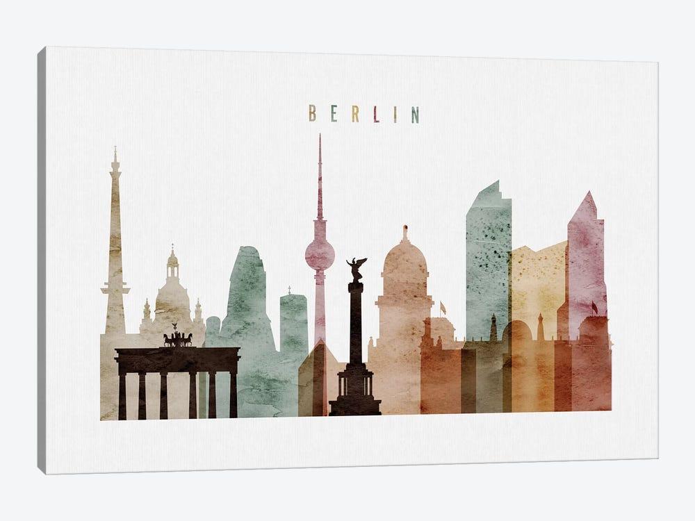Berlin Watercolor by ArtPrintsVicky 1-piece Art Print