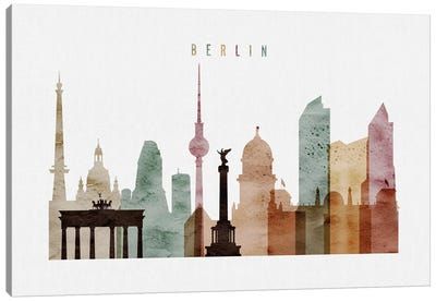 Berlin Watercolor Canvas Art Print