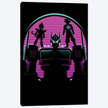 Retro Optimus warriors Canvas Print #APZ106} by Alberto Perez Canvas Art Print