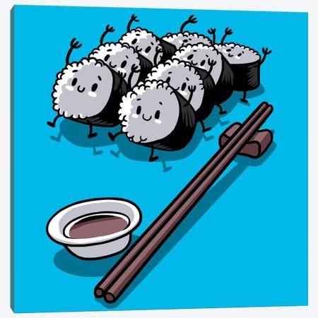 Kawaii Rice Canvas Print #APZ113} by Alberto Perez Art Print