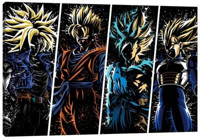 Splatter super warriors Canvas Art Print