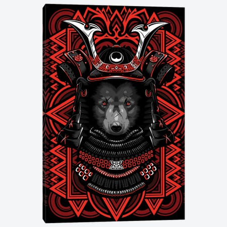 Samurai Grizzly Canvas Print #APZ115} by Alberto Perez Canvas Art