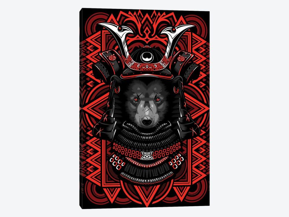 Samurai Grizzly by Alberto Perez 1-piece Canvas Artwork
