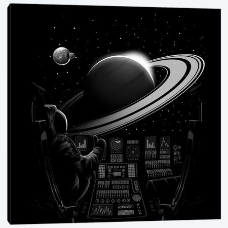 Saturn Canvas Print #APZ117} by Alberto Perez Canvas Art
